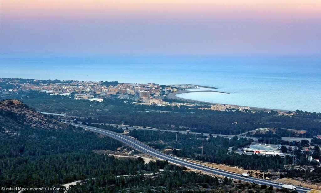 Vista de l'Hospitalet de l'Infant des de l'ermita. Vandellòs - Hospitalet de l'Infant, Baix Camp, Tarragona
